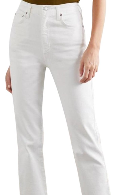 Item - White Ultra High Rise Pants Size 4 (S, 27)