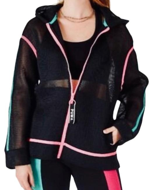 Item - Black Chase Spacer Full-zip Hoodie Small Mesh Activewear Outerwear Size 6 (S)