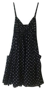 Moda International short dress Navy blue and white poka dots on Tradesy