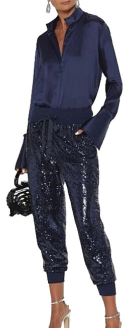 Item - Blue XS Giles Sequined Pull-on Jogger Pants Size 0 (XS, 25)