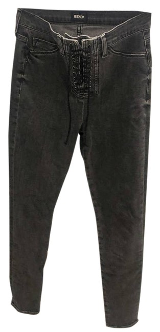 Item - Black Bullocks High Rise Lace Up Distressed Skinny Jeans Size 27 (4, S)