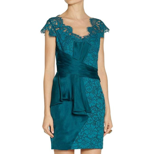Item - Teal Cocktail Short Casual Dress Size 8 (M)