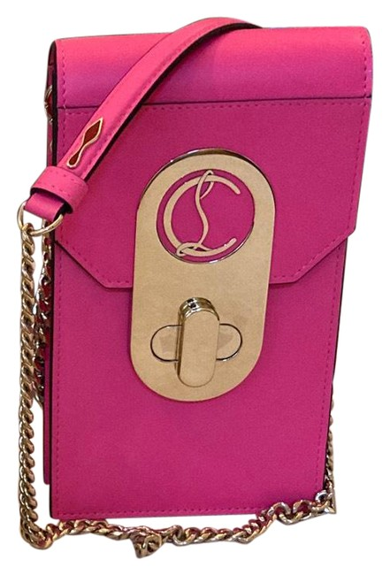 Item - Elisa Phone Pouch Pink and Gold Leather Cross Body Bag