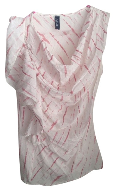 Preload https://item2.tradesy.com/images/fab-rik-top-white-with-pink-stripes-2981056-0-0.jpg?width=400&height=650