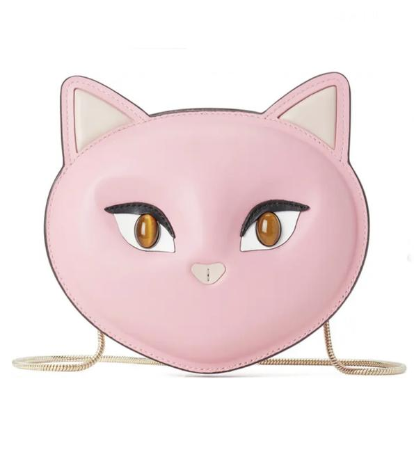 Item - Meow Cat Pink Leather Cross Body Bag