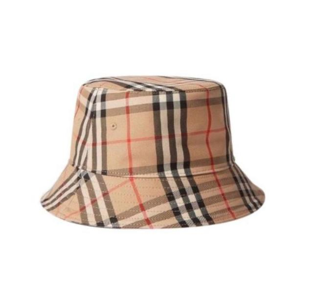 Item - Beige Bucket New Classic Check Canvas Small Hat