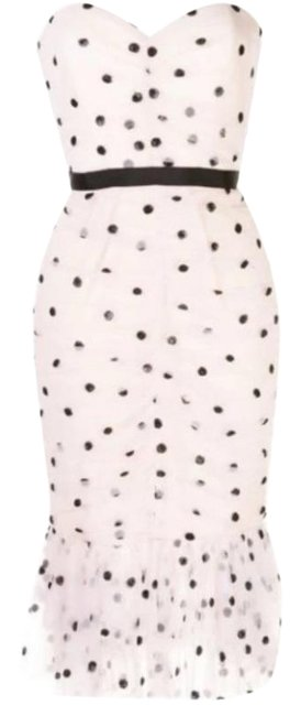 Item - Sequin Dot Tulle Strapless Mid-length Cocktail Dress Size 8 (M)