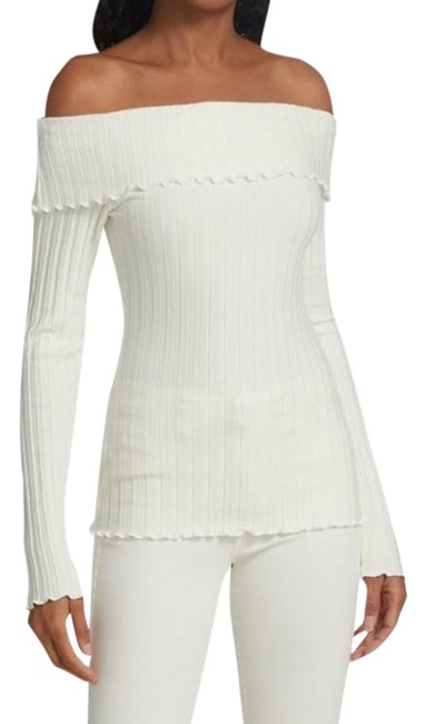 Item - White Bauer Off-the-shoulder Blouse Size 6 (S)
