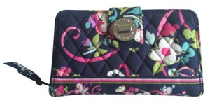 Vera Bradley Turn Lock Wallet - Ribbons Pattern