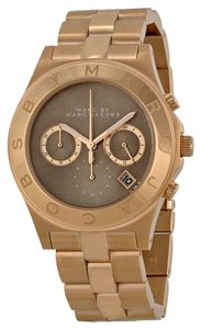 Marc by Marc Jacobs MARC BY MARC JACOBS MBM3308 Blade Brown Dial Rose Gold Tone Watch