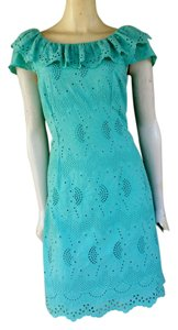 Muse short dress Green Cotton Eyelet on Tradesy