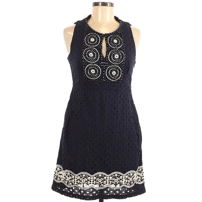 Item - Blue Beaded Seath Small Short Casual Dress Size 6 (S)