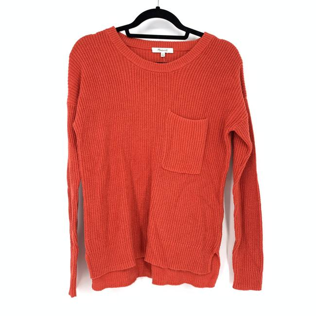 Item - XS Size Coral Thompson Pocket Tight Knit New Red Orange Sweater