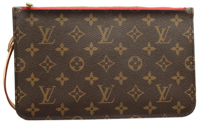 Item - Neverfull Pouch Brown Monogram Canvas Clutch