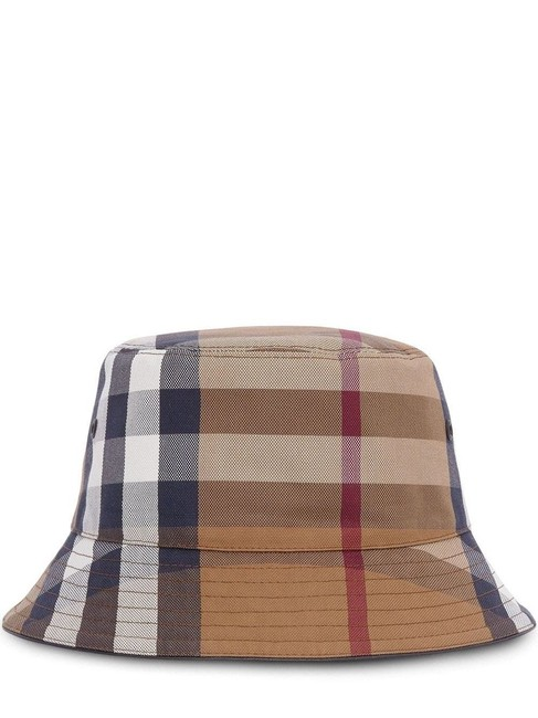 Item - Brown Bucket Check Cotton Canvas S-size Hat