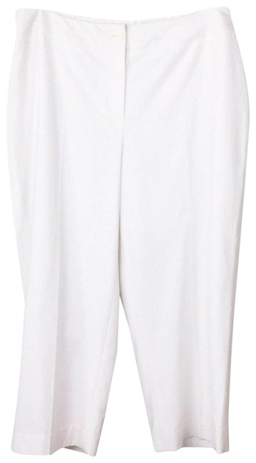 Item - White 14w Classic Lined Flat Front Button New Pants Size 14 (L, 34)