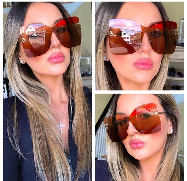 Item - Orange Red Butterfly Sunglasses
