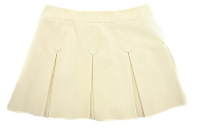 Item - Cream Wool Cashmere Pleated Skirt Size 2 (XS, 26)