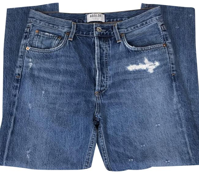 Item - Blue Jamie High Rise Classic In Grade Straight Leg Jeans Size 28
