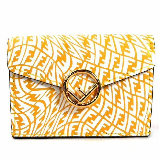 Item - White / Yellow W Tri-fold 2021 F / Is Micro Trifold Leather Women's 8m0395-agkt-218-3260 Wallet