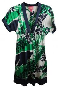 Yumi Kim short dress Green Print Silk Pockets on Tradesy