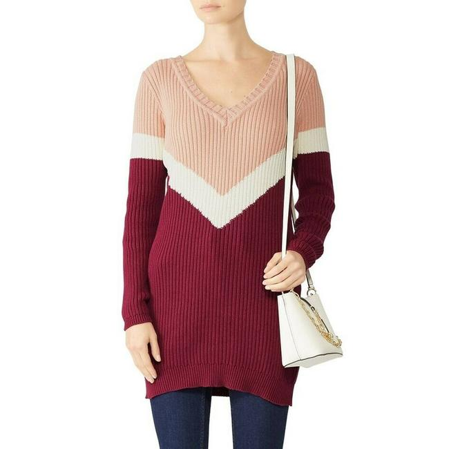 Item - Girl XS Get It Tunic Colorblock V-neck Ribbed Sweater