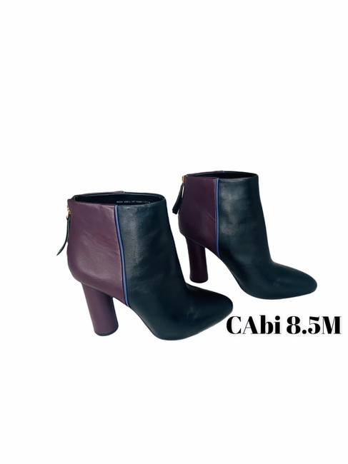 Item - Black Ankle Color Leather High Heels Boots/Booties Size US 8.5 Regular (M, B)