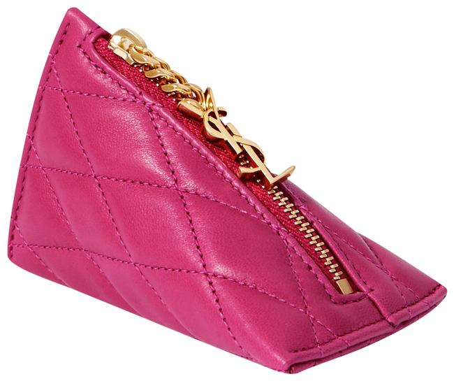 Item - Red Berlingo Charm Quilted Textured-leather Wallet