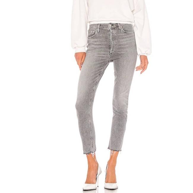 Item - Gray Nico High Rise Slim In Risk Straight Leg Jeans Size 30 (6, M)