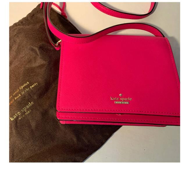 Item - New Leather Flap Pink Cross Body Bag