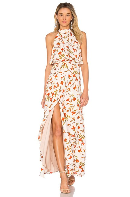 Item - Beige Golden Ray Floral Palm Print Long Casual Maxi Dress Size 0 (XS)