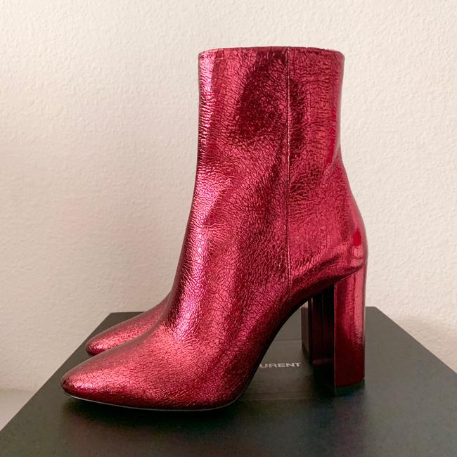 Item - Red New Metallic Ruby Boots/Booties Size US 6.5 Regular (M, B)