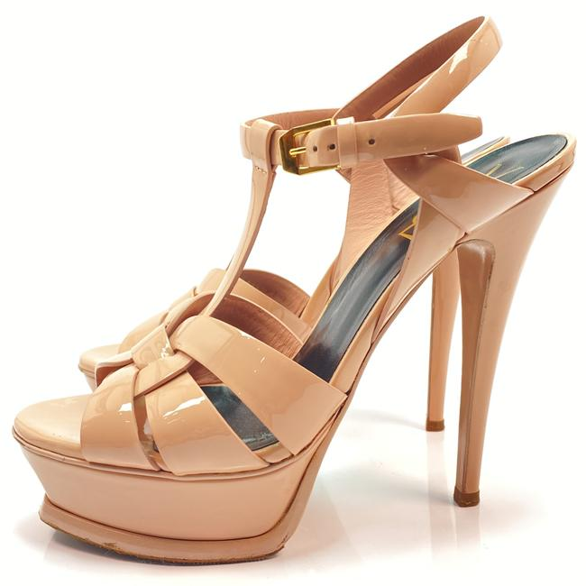 Item - Nude Pink Tribute Ysl Yves Poudre Patent Leather Sandals Size EU 37 (Approx. US 7) Regular (M, B)