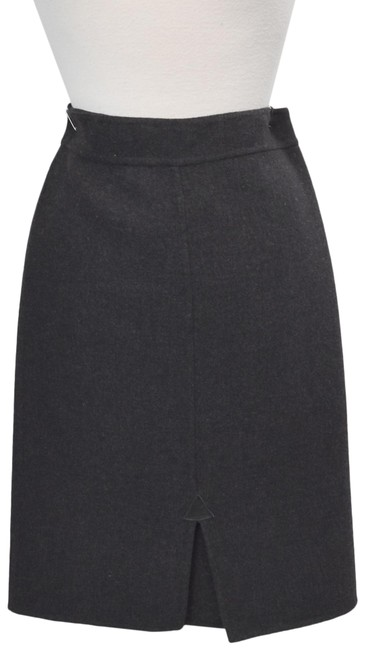 Item - Gray Wool Pencil Small Skirt Size 4 (S, 27)