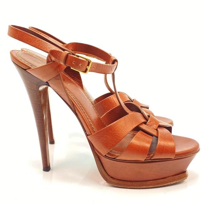 Item - Brown Tribute Ysl Yves Rust Leather Sandals Size EU 40 (Approx. US 10) Regular (M, B)