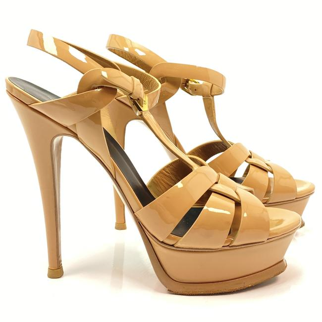 Item - Nude Tribute Ysl Yves Patent Leather Sandals Size EU 37.5 (Approx. US 7.5) Regular (M, B)