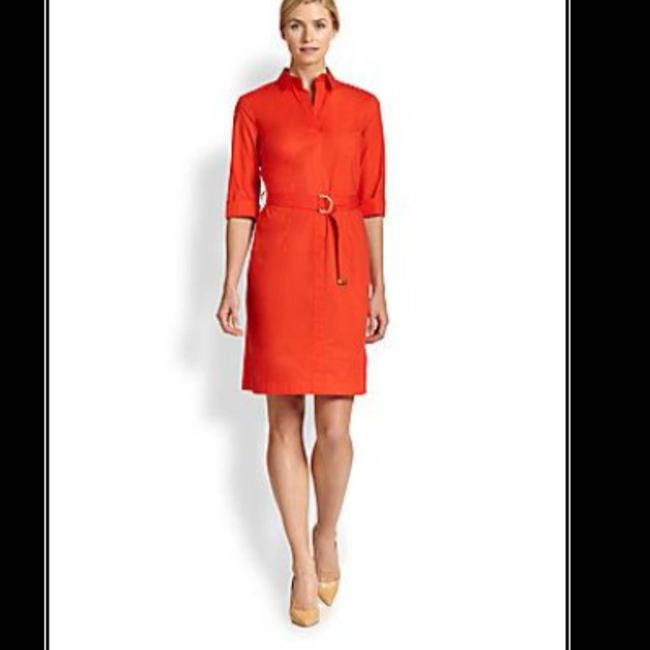 Item - Red Dashiri2 Belted In Poppy Short Casual Dress Size 2 (XS)