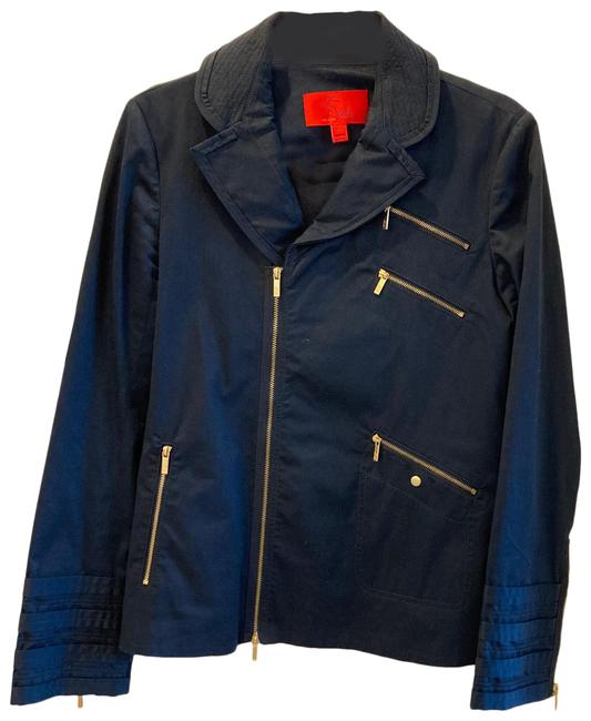 Item - Navy Jacket with Gold Accent Blazer Size 10 (M)