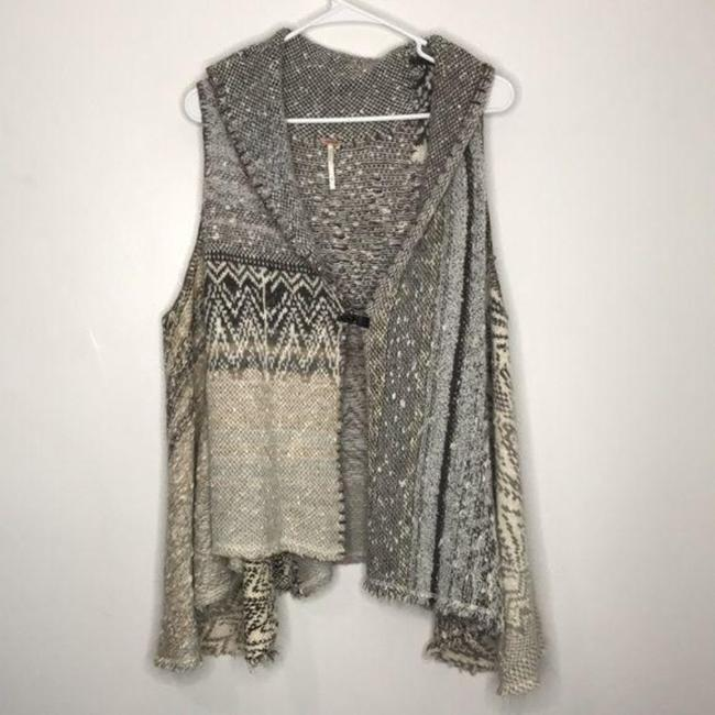 Item - Gray Tan In Your Arms Wool Blend Vest Cardigan Size 0 (XS)