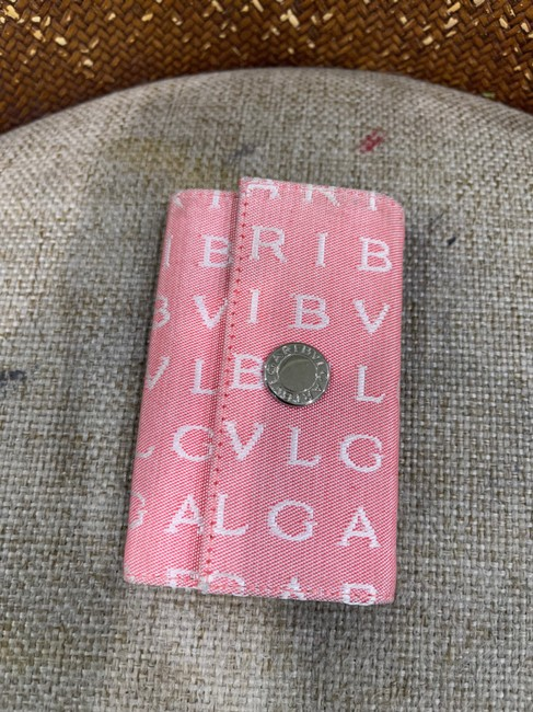 Item - Pink Key Chain Case Canvas Tech Accessory