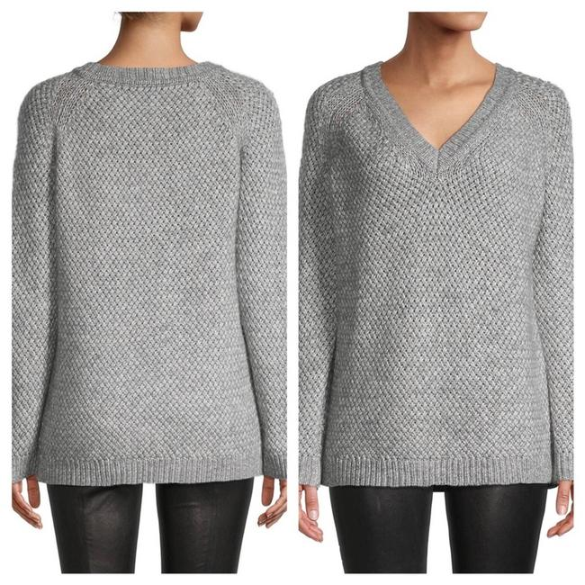 Item - L Knitted Wool Blend V-neck Gray Sweater