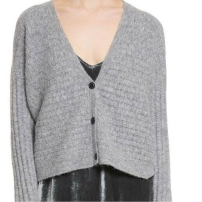 Item - Gray L Chenille Sweater with Buttons Cardigan Size 12 (L)