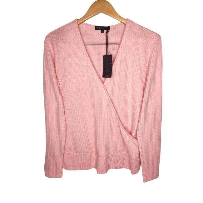 Item - L Blush Crossover Ribbed Pink Sweater