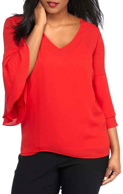 Item - Red Bell Sleeve Blouse Size 28 (Plus 3x)