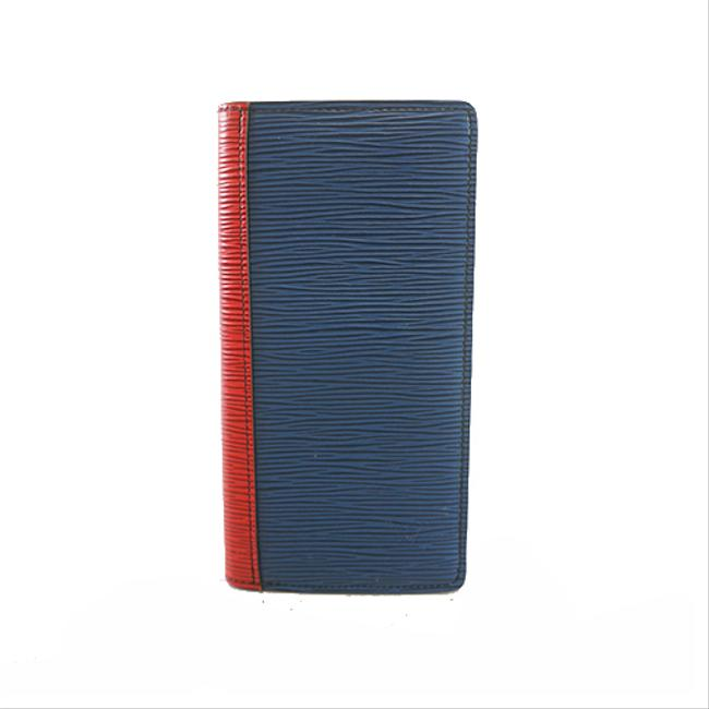 Item - Blue / Green / Red Color Long Epi Portofeuil Brothers Nm M68718 Women's Wallet