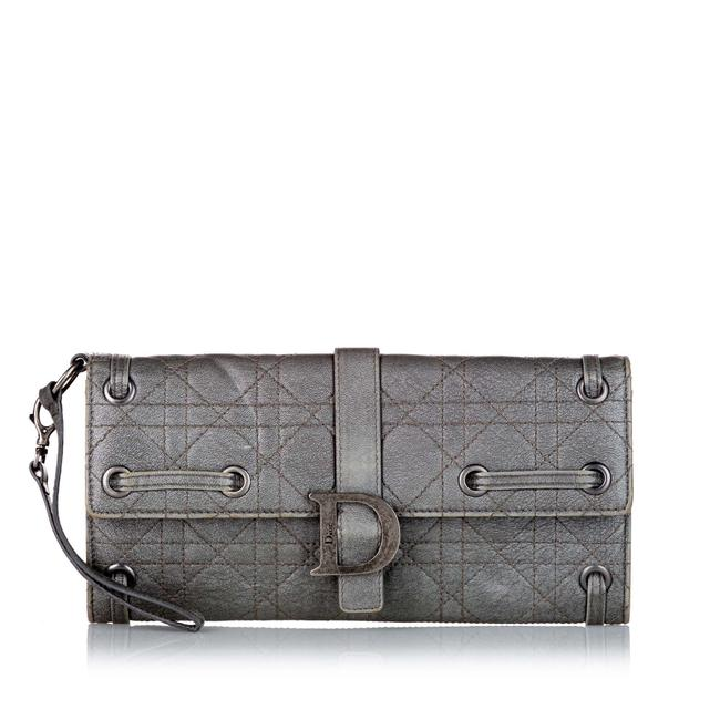 Item - Gray Cannage Leather Wallet