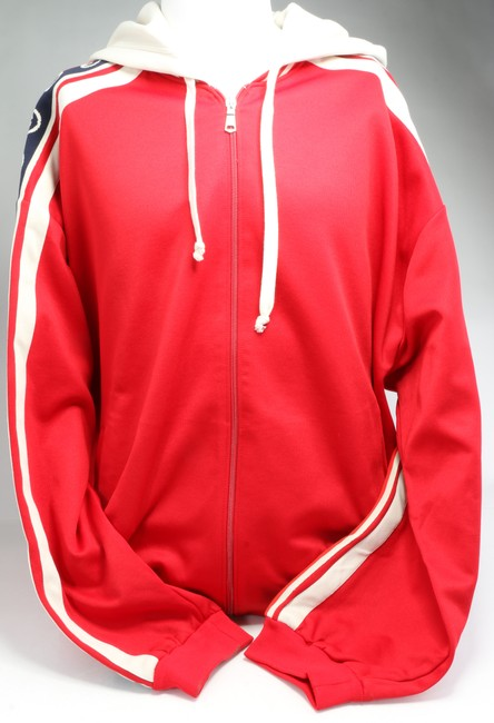 Item - Red Jersey Technical Bomber Jacket Activewear Size 18 (XL, Plus 0x)