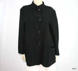Jil Sander Wool Blend Black Jacket