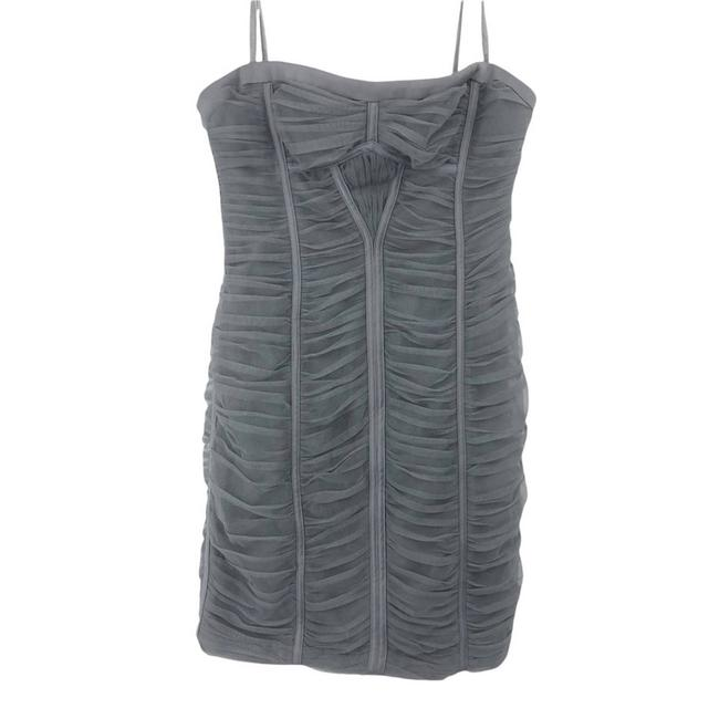 Item - Gray Smoke Tulle Strapless Short Cocktail Dress Size 4 (S)