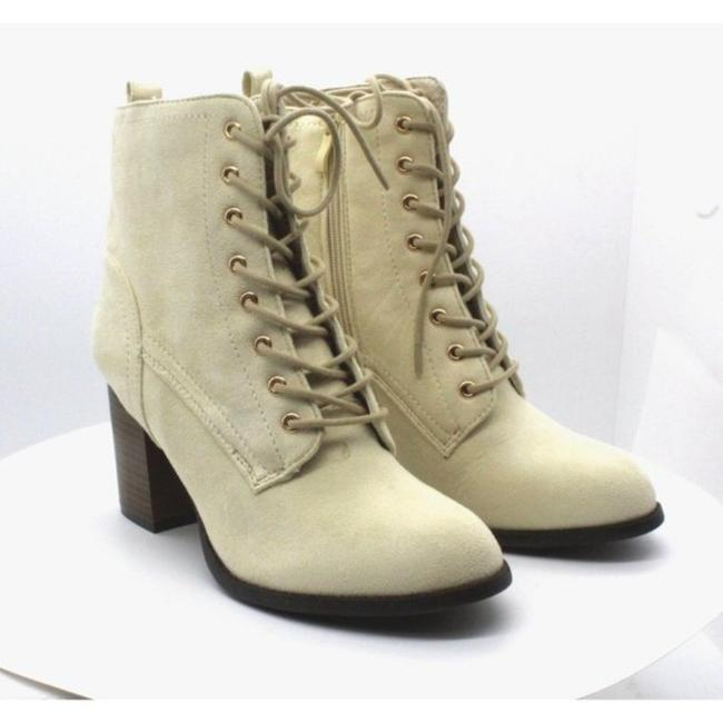 Item - Cream Womens Baylor Fabric Almond Toe Ankle Fashion Boots/Booties Size US 7.5 Regular (M, B)